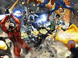 New Warriors No. 4: Justice, Speedball, Haechi, Sun Girl, Nova, Scarlet Spider, Water Snake Wall Decal