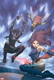 X-Men No. 34: Psylocke, Domino, Pixie Plastic Sign