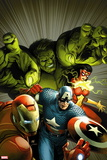 Avengers Assemble No. 9: Captain America, Hulk, Iron Man, Spider Woman Plastic Sign