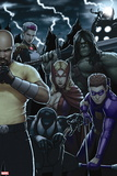 Dark Avengers No. 183: Toxie Doxie, Al Apaec, Trickshot, Skaar, Songbird, Cage, Luke Plastic Sign