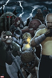 Dark Avengers No. 182: Troll, Cage, Luke, Moonstone, Mr. Hyde, Juggernaut, Satana Plastic Sign