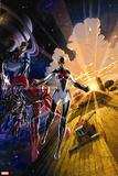 Avengers No. 5: Gladiator, Starbolt, Mentor, Warstar, Manta, Smasher Plastic Sign