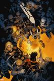 Uncanny X-Men No. 19: S.H.I.E.L.D., Cyclops, Magik, Frost, Emma Plastic Sign