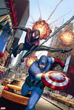 Ultimate Comics Spider-Man No. 14: Captain America, Spider-Man Wall Decal