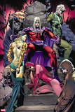 Magneto: Not a Hero No. 1: Joseph, Astra, Scarlet Witch, Quicksilver, Mastermind, Blob, Toad Wall Sign