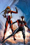 Ultimate Comics Spider-Man No. 17: Spider-Man, Spider Woman Wall Decal