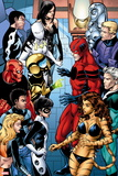 Avengers Academy No. 39: Tigra, Giant Man, Finesse, Hazmat, Lightspeed, Mettle, Striker, Veil Plastic Sign