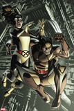 Wolverine: First Class No. 13: Wolverine, Shadowcat Plastic Sign