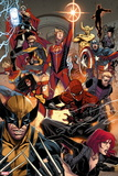 Avengers No. 17: Thor, Captain Marvel, Spider Woman, Wolverine, Spider-Man, Captain Marvel Plastic Sign