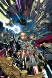 Avengers No. 18: Smasher, Thor, Hyperion, Ex Nihilo, Falcon Plastic Sign