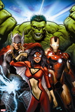 Avengers Assemble No. 10: Spider Woman, Iron Man, Thor, Hulk Wall Sign