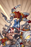 Wolverine Weapon X No. 12: Wolverine, Captain America, Deathlok Plastic Sign