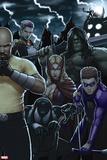 Dark Avengers No. 183: Toxie Doxie, Al Apaec, Trickshot, Skaar, Songbird, Cage, Luke Wall Decal