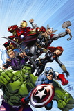 Avengers Assemble Style Guide: Hulk, Captain America, Hawkeye Wall Sign