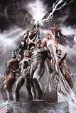 X-Men No. 1: Cyclops, Rogue, Frost, Emma, Colossus, Wolverine, Storm, Magneto, Archangel Autocollant mural