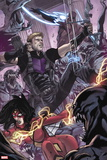 Avengers World No. 8: Hawkeye, Spider Woman, Nightmask Plastic Sign