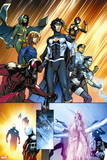 New Warriors No. 4: Justice, Speedball, Haechi, Nova, Scarlet Spider, Water Snake, Hummingbird Plastic Sign