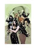 X-Men No. 11: Typhoid Mary, Selene, Enchantress, Lady Deathstrike Metal Print
