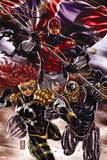 Revolutionary War: Omega No. 1: Captain Britain, Dark Angel, Deaths Head II Wall Sign
