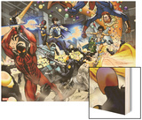 New Warriors No. 4: Justice, Speedball, Haechi, Sun Girl, Nova, Scarlet Spider, Water Snake Posters