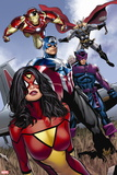 X-Men Legacy No. 236: Spider Woman, Captain America, Thor, Hawkeye, Iron Man Plastic Sign