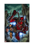 Weapon X: First Class No. 2: Wolverine, Deadpool Metal Print
