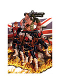Revolutionary War: Supersoldiers No. 1: Gog, Hauer, Joseph, Guvnor, Dauntless Metal Print