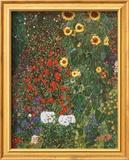Gustav Klimt - Zahrada se slunečnicemi (Farm Garden with Sunflowers, cca1912) Plakát