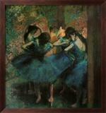 Dancers in Blue Kunstdruck von Edgar Degas