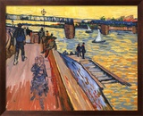 The Bridge at Trinquetaille Kunst af Vincent van Gogh