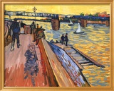 The Bridge at Trinquetaille Plakat af Vincent van Gogh