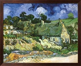 Thatched Cottages at Cordeville Poster von Vincent van Gogh