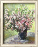 Vase of Flowers (Mini) Poster von Claude Monet