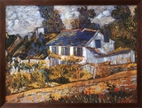 Vincent van Gogh - House at Auvers Reprodukce