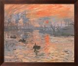 Impression, Sunrise Kunst af Claude Monet