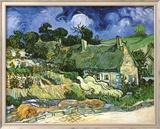 Thatched Cottages at Cordeville Kunstdrucke von Vincent van Gogh