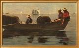 Three Boys in a Dory Kunstdrucke von Winslow Homer