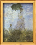 Woman with Parasol and Child Poster von Claude Monet