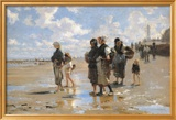 John Singer Sargent - Oyster Gatherers of Cancale Reprodukce