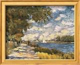 The Seine At Argenteuil Poster von Claude Monet