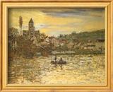 The Seine at Vetheuil Poster von Claude Monet