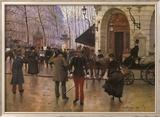 Boulevard des Capucines and The Vaudeville Theatre Poster von Jean Béraud