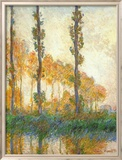 Three Trees In Autumn Kunstdruck von Claude Monet