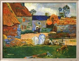 Farm At Pouldu Kunstdrucke von Paul Gauguin