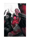 Thunderbolts No. 5: Leader, Punisher, Red Hulk, Elektra Metal Print