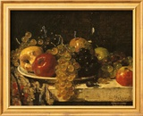 Grapes and Apples Plakat af François Miel