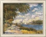 The Seine At Argenteuil Kunstdrucke von Claude Monet