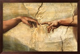 Creation of Adam, c.1510 Poster von  Michelangelo Buonarroti