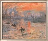 Impression, Sonnenaufgang (grün) Poster von Claude Monet