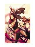 Uncanny X-Force No. 2: Psylocke, Storm, Spiral, Puck, Cluster Metal Print